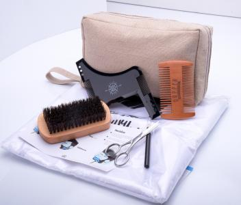 New Amazon Beard Grooming Set Beard Shaping Tool ,Bread Brush,Comb&Balm,Oil Beard Grooming Kit For Men's Gift