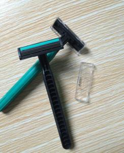 twin blade rubber handle disposable razor