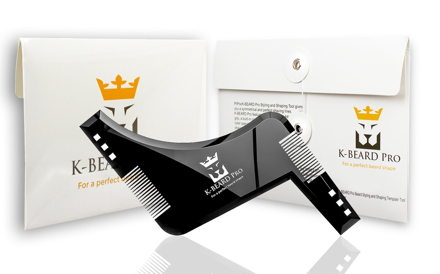 Beard Shaping Tool Perfect Beard Lines With This Premium Quality Stencil Shaper Kit For Men. Many Beard Styles Possible