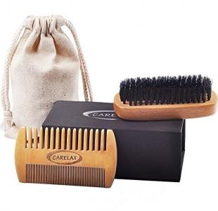 OEM Beard Brush & Comb Kit for Men With Wild Boar Bristles for Easy Grooming. Use With Beard Conditioner or Softener to Get Pefe