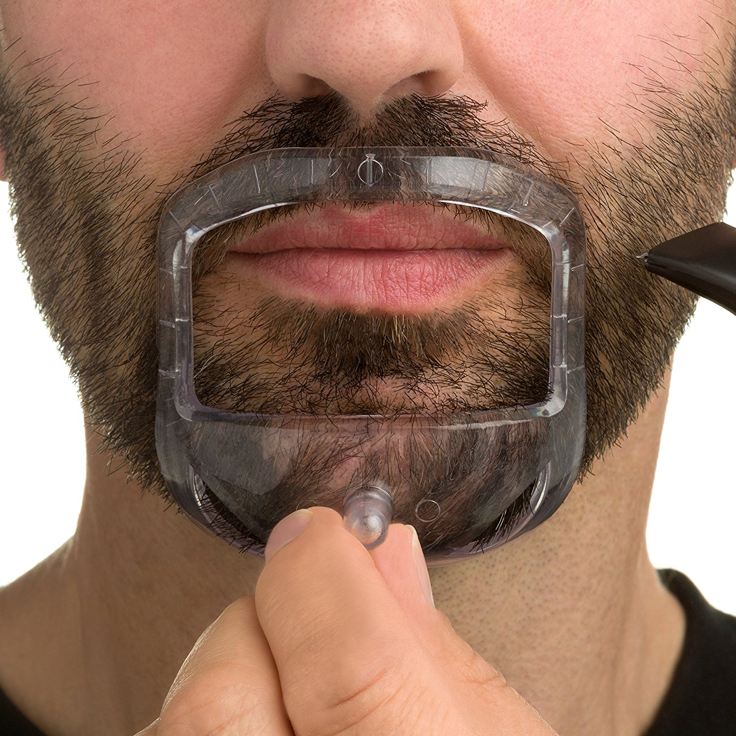 New Design 5 size Goatee Shaving Template kit - Create a Perfectly Shaped Goatee Easy to Use and Easy to Clean